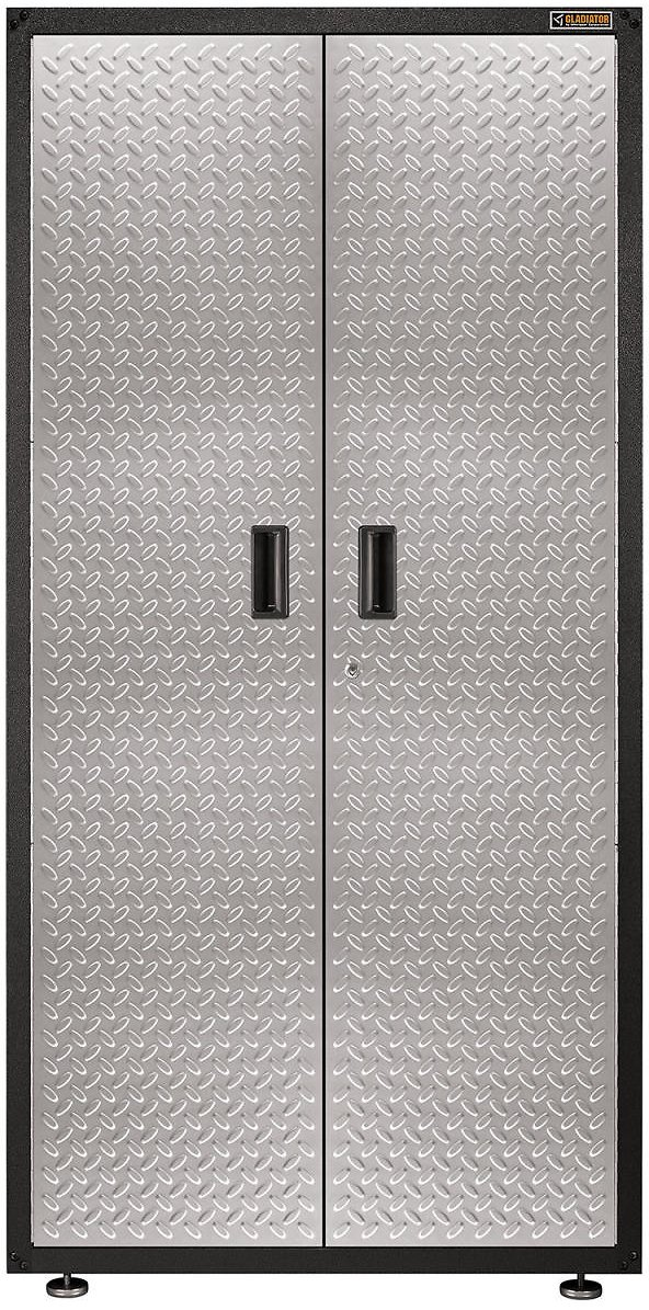 Gladiator 36-inch Ready-to-Assemble Steel Freestanding Garage Cabinet in Silver Tread - Sam's Club