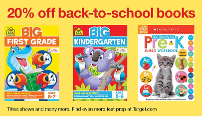 20% Off Select Back-to-school Books (08/16)