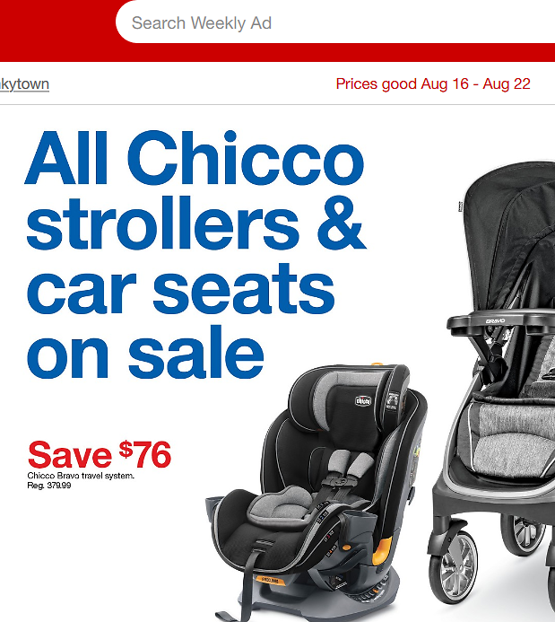 All Chicco Strollers & Car Seats (08/16)