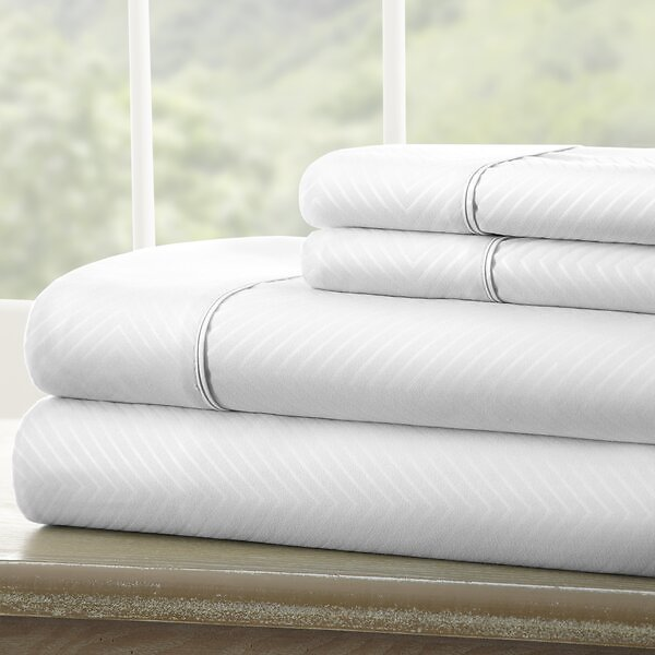 Stoehr Double-Brushed Chevron Sheet Set - King (Multiple Colors)