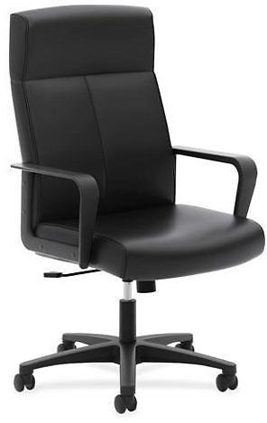 Basyx VL604 Series High-Back Executive Chair Black SofThread Leather VL604SB11 - Newegg.com