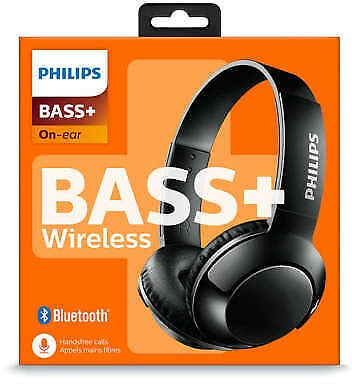 Philips SHB3075 Extra BASS+ Bluetooth Wireless On-Ear Headphones with Microphone 889446007381