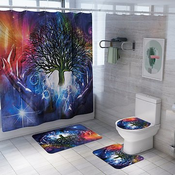 3PCS Bathroom Carpet Shower Curtain Bathroom Mats Waterproof Bath Decoration Bathroom from Home and Garden on Banggood.com