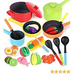 Kitchen Pretend Play Toys Cookware Playset
