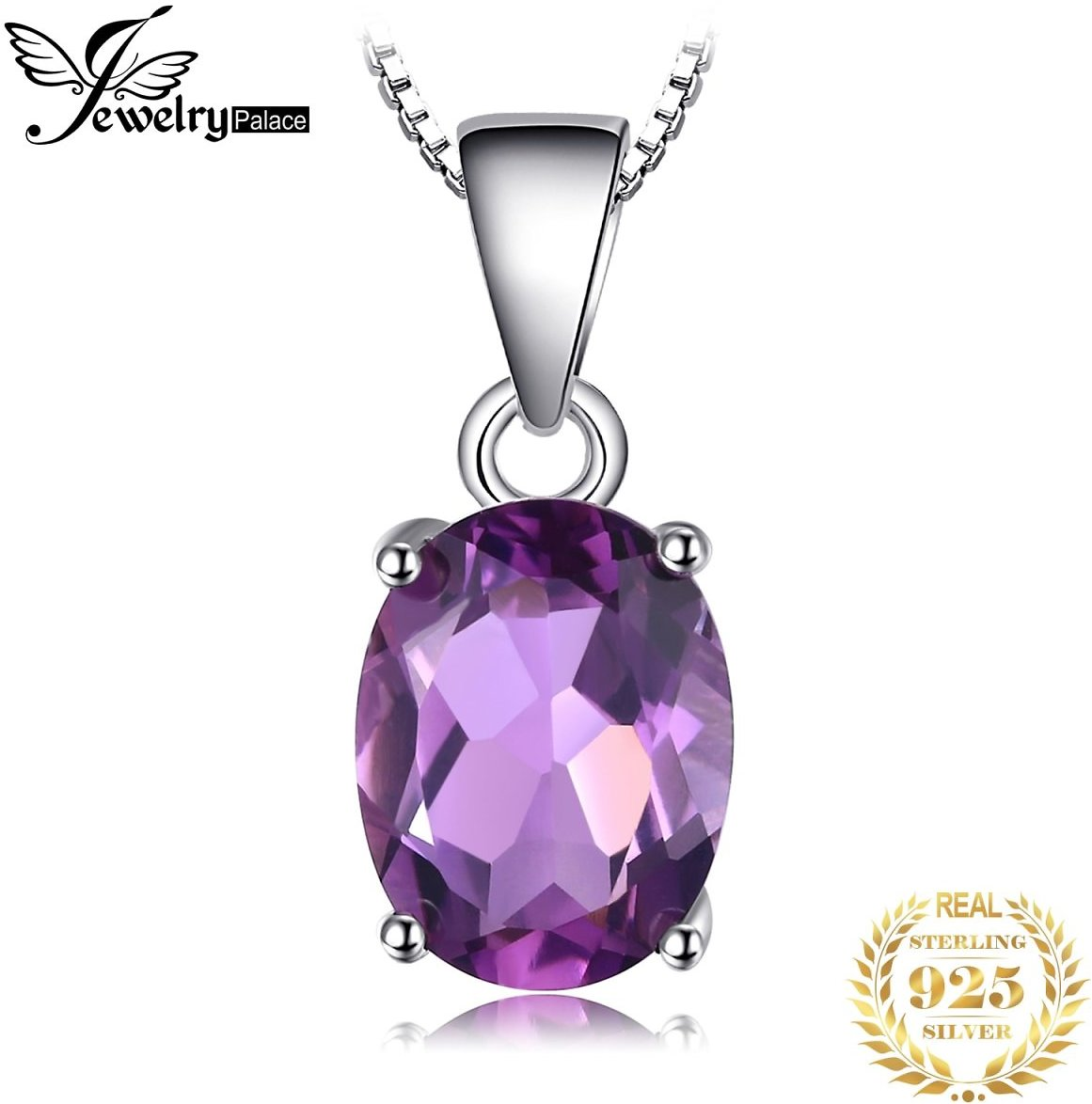 US $4.67 39% OFF Natural Amethyst Pendant Necklace 925 Sterling Silver Gemstone Choker Statement Necklace Women Silver 925 Jewelry Without Chain jewelry Pendant jewelry Fashionjewelry Wholesale - AliExpress