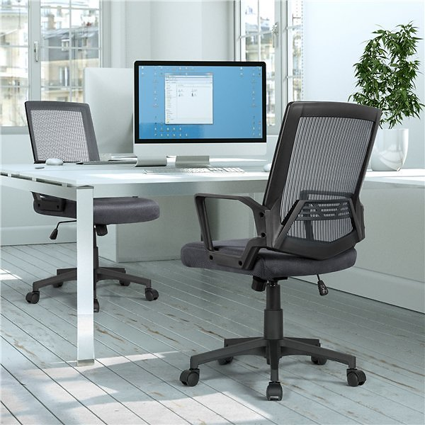 Mid-Back Mesh Office Ergonomic Chair + F/S