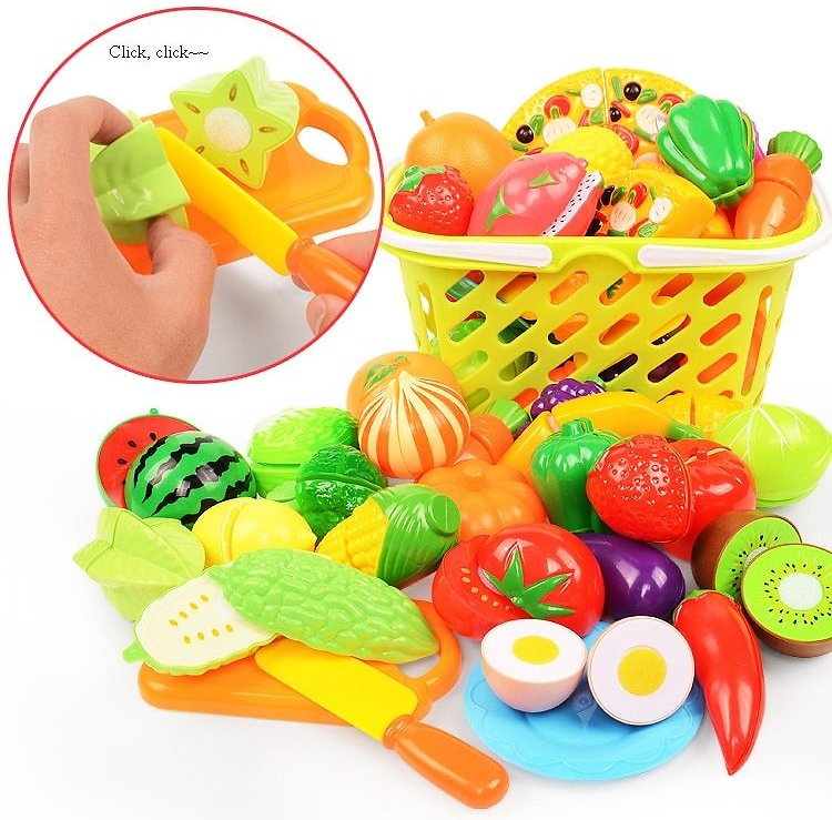 US $3.4 5% OFF|37pcs/lot Children Pretend Role Play House Toy Cutting Fruit Plastic Vegetables Food Kitchen Baby Classic Kids Educational Toys|Kitchen Toys| - AliExpress