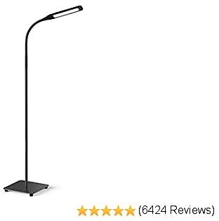 Miroco LED Floor Lamp with 4 Brightness Levels & 4 Colors Temperatures, Adjustable LED Floor Light, Dimmable Adjustable Reading Standing Lamp for Sewing Painting Piano Puzzle Craft Bedroom Office