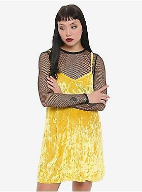 Her Universe DC Comics Birds Of Prey Black Canary Fishnet Velvet Dress