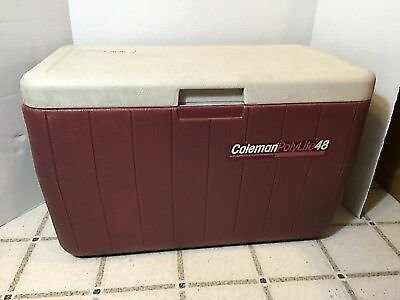 Vintage Coleman Polylite 48 Ice Chest Cooler - Camping Sports