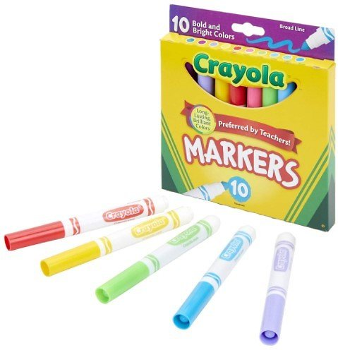 10-Pack Crayola Broad Line Markers, Bold & Bright Colors