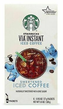Starbucks VIA Instant Sweetened Iced Coffee,(6-0.95oz Packets),5.6 Oz 762111853974