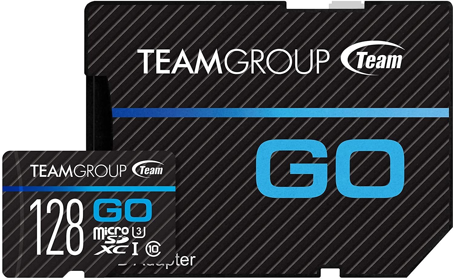 TEAMGROUP GO Card 128GB Micro SD Card with Adapter, TGUSDX128GU303