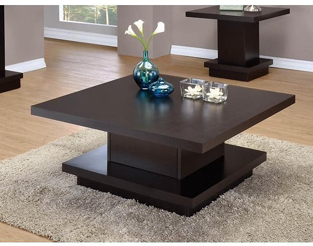 Coaster 705168-CO Coffee Table, Cappuccino