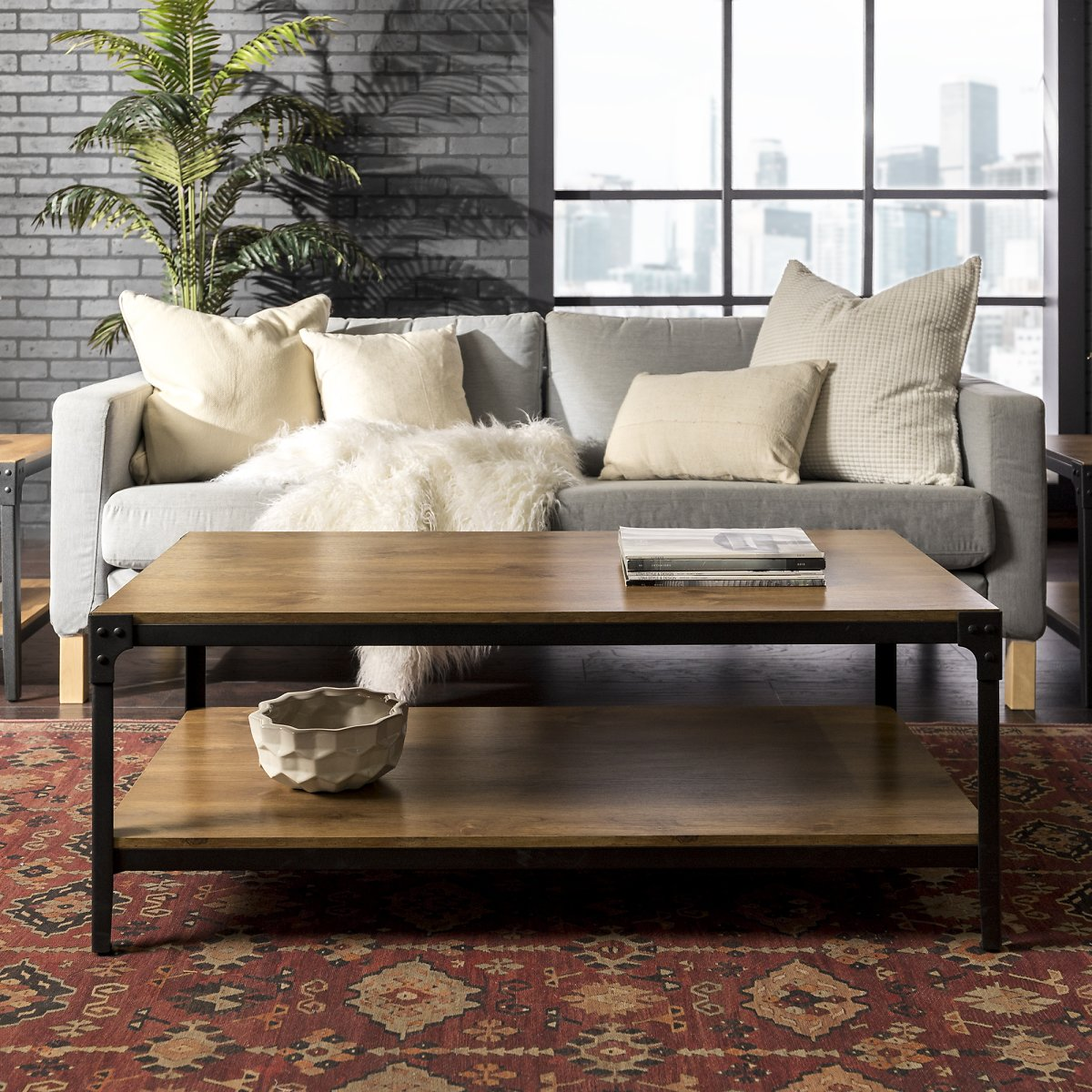 Wilson Riveted Barnwood Coffee Table By River Street Designs