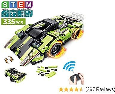 STEM Building Toys for Kids with 2-in-1 Remote Control Racer | Snap Together Engineering Kits Early Learning Racecar Building Blocks and Off-Road Best Gift for 6, 7,8 and 9+Year Old Boys and Girls