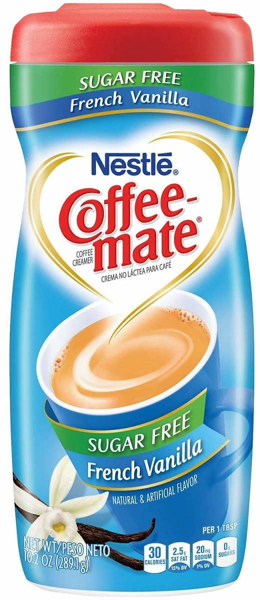 Coffee-Mate Coffee Creamer Sugar Free French Vanilla, Pack of 6