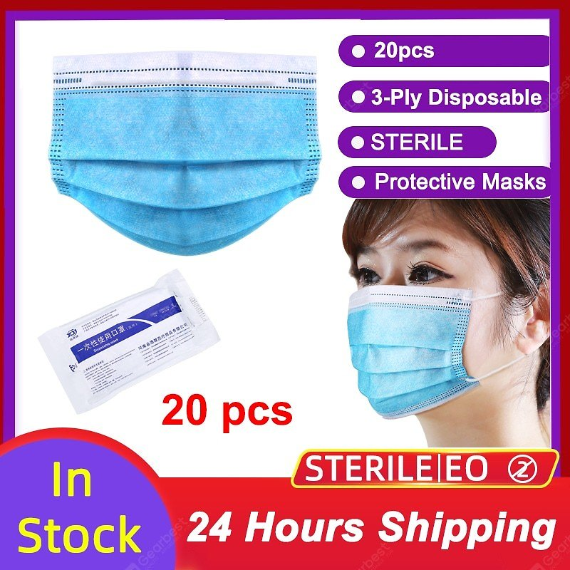 3 Layer Non-woven Thickened Disposable Virus Protective Mask Surgical Face Mask Facial Safety Masks Sale, Price & Reviews | Gearbest