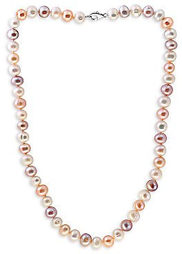 Effy - Sterling Silver & Multicolored Freshwater Pearl Necklace