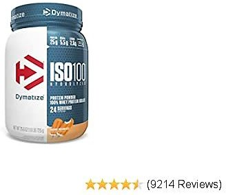 Dymatize ISO 100 Whey Protein Powder with 25g of Hydrolyzed 100% Whey Isolate, Gluten Free, Fast Digesting, Orange Dreamsicle, 1.6 Pound