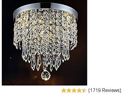 Hile Lighting KU300074 Modern Chandelier Crystal Ball Fixture Pendant Ceiling Lamp H10.43