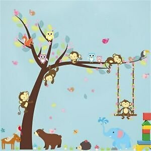 Monkey Swing Decoration Children Room Environment Layout Removable Wall Sticker