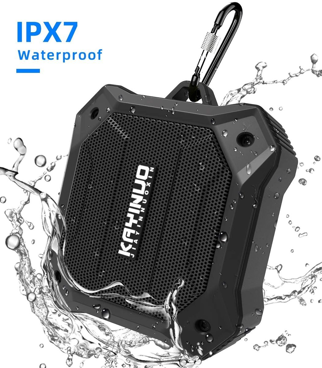 Shower Speaker - Kayinuo IPX7 Waterproof Bluetooth Speaker, Portable Bluetooth Speaker with Enhanced Bass and Built-in Mic, Mini