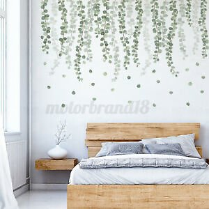 Tropical Leaves Wall Sticker Decal PVC Removable Living Room Art Mural Decor