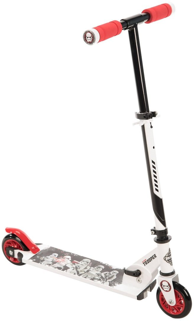 STAR WARS Stormtrooper Boys' Inline Folding Scooter w/ LED Grips, By Huffy Bikes