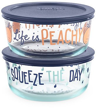 Pyrex Decorated 4-Pc. Squeeze The Day Food Storage Container Set & Reviews - Bakeware - Kitchen