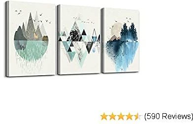 Abstract Mountain in Daytime Canvas Set