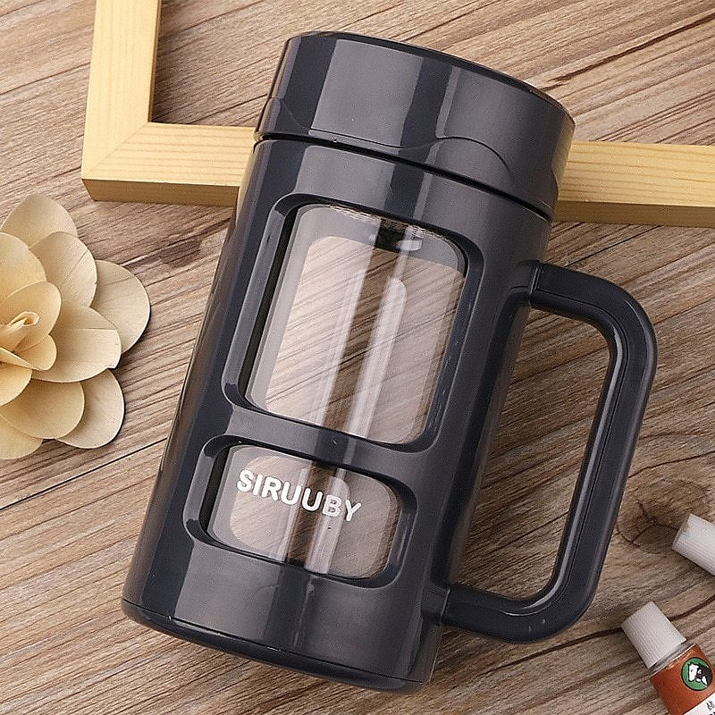 US $13.54 49% OFF ZOOOBE 400ml Glass Water Bottle With Stainless Steel Filter Tea Beer Coffee Mug with Handle Insulation Glasses Mug Drinkware Mugs  - AliExpress