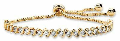 Diamond Accent 14k Gold-Plated Drawstring S-Link Bracelet