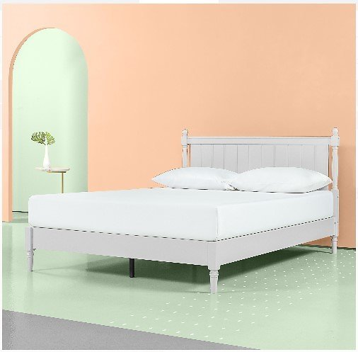 Zinus Provence 12-in Wood Platform Bed with Headboard