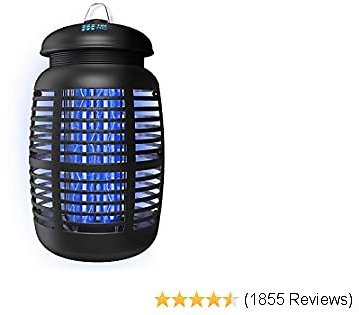[2-in-1] Bug Zapper & Attractant - Effective 4000V Electric Mosquito Zappers/Killer - Insect Fly Trap, Waterproof Outdoor/Indoor - Electronic Light Bulb Lamp for Backyard, Patio - 1 Acre, Large