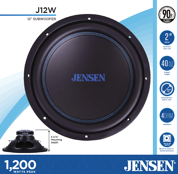 "JENSEN J12W 12"" Subwoofer 