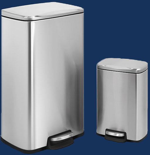 Innovaze 30L and 5L Rectangular Trash Can Set (2 Colors)