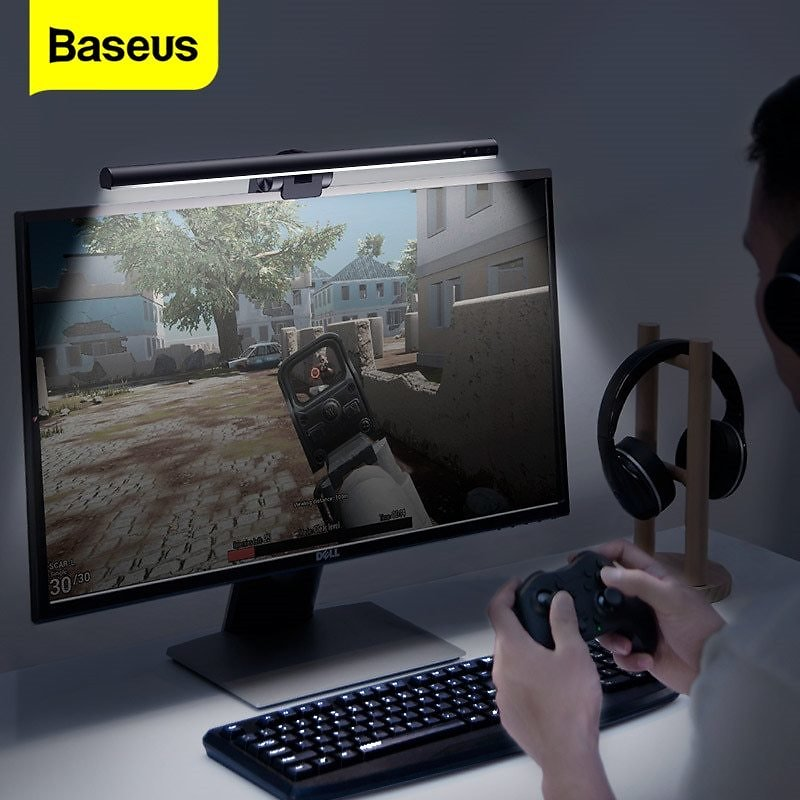 US $25.63 53% OFF|Baseus LED Desk Lamp Dimmable Office Computer Screenbar Eye Caring Table Lamp for Study Reading Screen Monitor Hanging Light Bar|Desk Lamps| - AliExpress