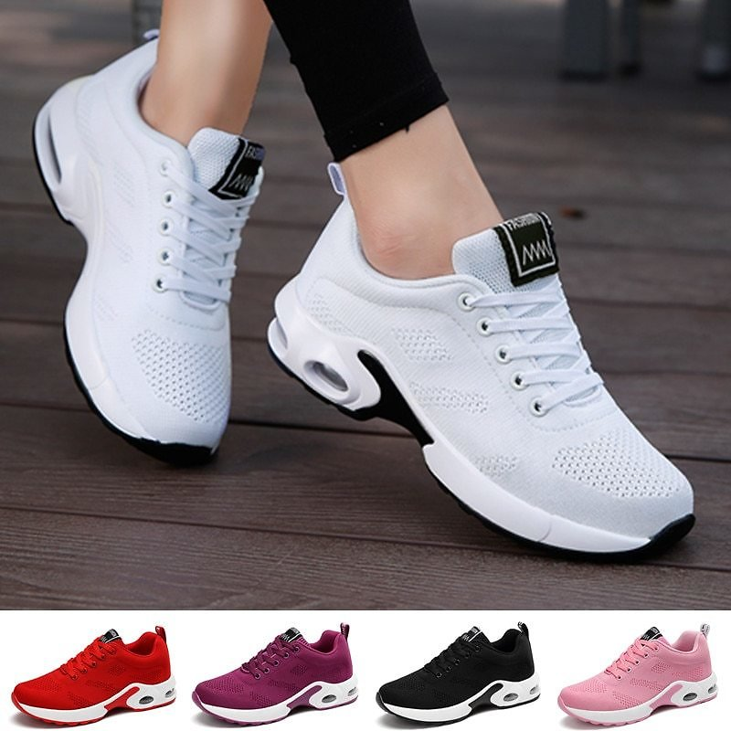 US $15.2 5% OFF|Fashion Women Sneakers Air Cushion Soft Bottom Running Shoes Outdoor Mesh Breathable Tennis Shoes|Fitness & Cross-training Shoes| - AliExpress