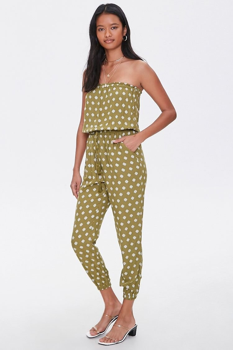 JUST $1.99 Medallion Print Tube Jumpsuit