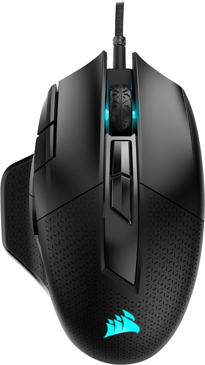 CORSAIR NIGHTSWORD RGB FPS/MOBA Wired Optical Gaming Mouse Black CH-9306011-NA