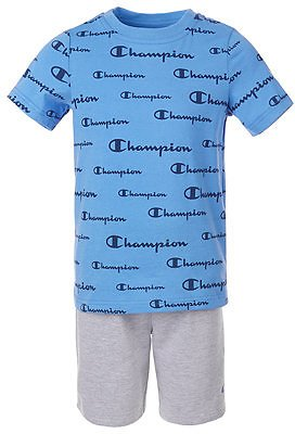 Champion Little Boys 2-Pc. Script Logo T-Shirt & Shorts Set & Reviews - Sets & Outfits - Kids