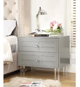 Inspired Home Inspired Home Gillian Nightstand Lacquer-Finish