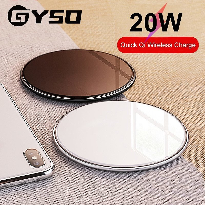 US $7.78 44% OFF|GYSO 20W Fast Qi Wireless Charger For IPhone 11 Pro X/XS Max XR 8 Plus USB Wireless Charging Pad For Samsung S9 S10 S20 Note 9 8|Wireless Chargers| - AliExpress