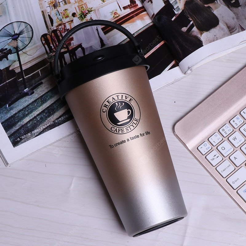 Portable Coffee Mugs For Large Capacity Stainless Steel Water Cup Couple Portable Teacup Sale, Price & Reviews | Gearbest
