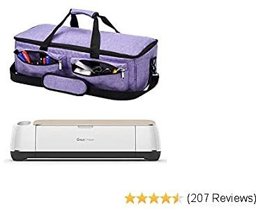 ARSH Carrying Bag Compatible with Cricut Maker, Tote Bag Compatible with Cricut Explore Air 2, Supplies and Accessories (Purple Color)