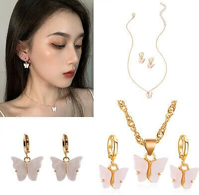 Beauty Women Alloy Clavicle Chain Choker Necklace Earrings Set Jewelry Gifts