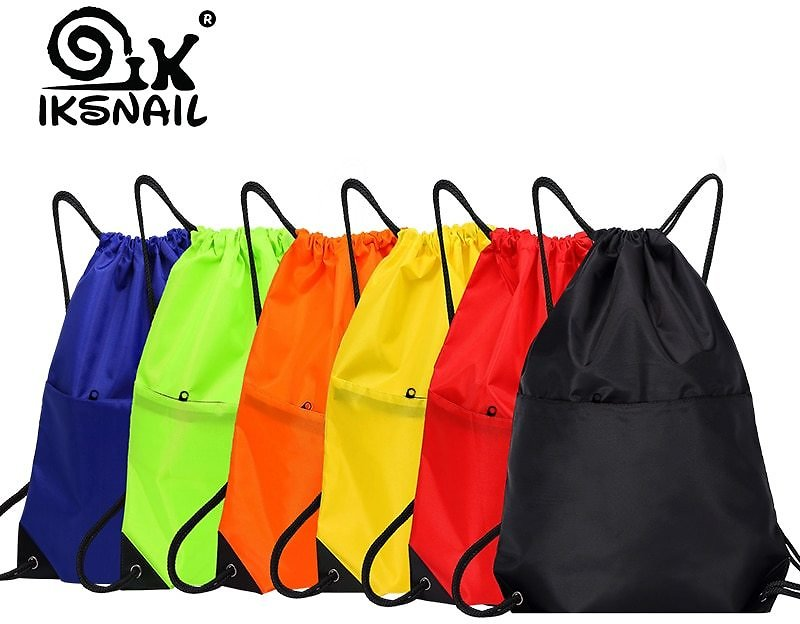 US $3.99 39% OFF IKSNAIL Waterproof Zipper Gym Sport Fitness Bag Foldable Backpack Drawstring Shop Pocket Hiking Camping Pouch Beach Swimming Bag Gym Bags  - AliExpress