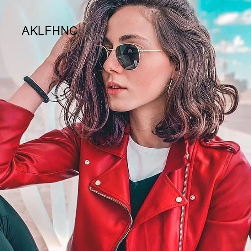 US $2.36 |Polygonal Sunglasses Women Glasses Lady Luxury Retro Metal Sun Glasses Female Vintage Mirror Oculos De Sol Feminino UV400|Women's Sunglasses| - AliExpress