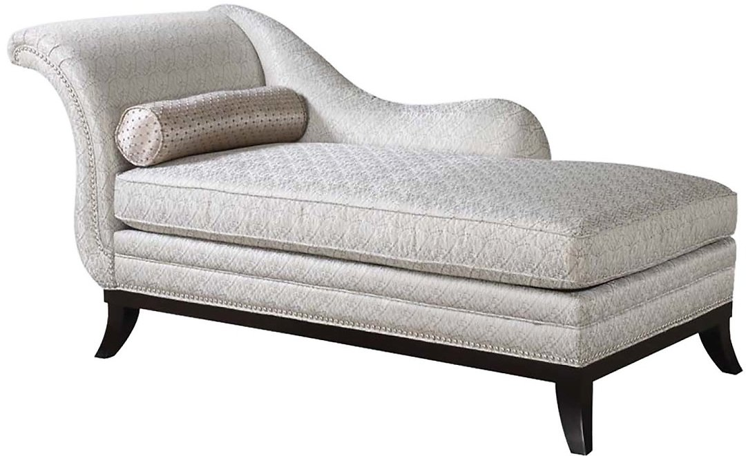 Acme Furniture Acme Furniture Kimbra Chaise W/Silver Gray Pillow